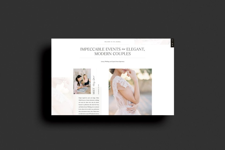 Custom Brand and Showit Web Website Design for Photographer Photographers Light Airy Fine Art - With Grace and Gold - Best Brand and Web Design for Small Businesses - Detailed Touch Events - 19