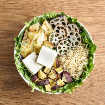 焼き野菜と豆腐のサラダ
