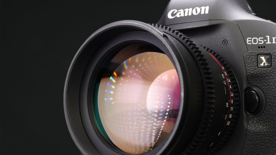 Macro image of a Canon camera