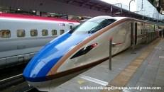03Jul15 001 Tokyo Station JR East Hokuriku Shinkansen E7 Series Bullet Train