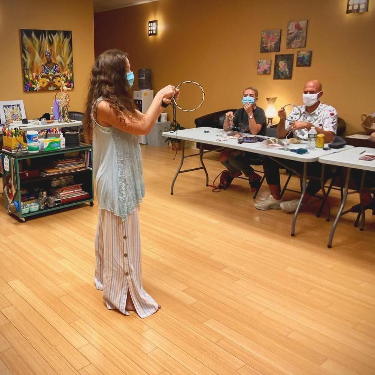 Dreamcatcher Workshop with guest teacher, Amanda Fresnics