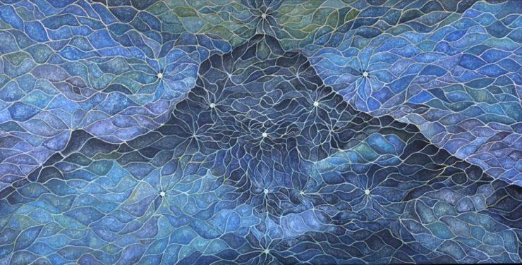 """Matt Becker, """"Arunachala,"""" Oil on canvas, 4' x 8' - $3500"""