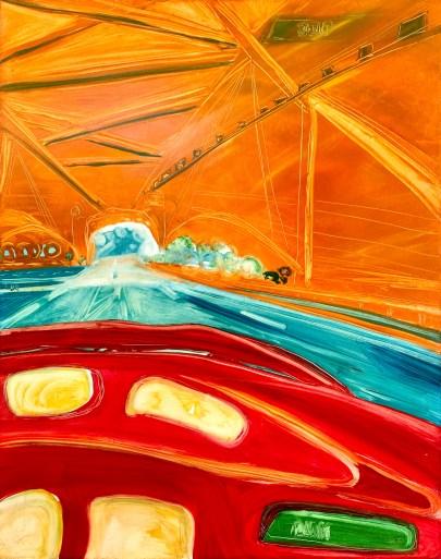 "Tali Rose Krupkin, ""Through the Bridge,"" Oil on canvas, 17"" x 22"" -- $75"