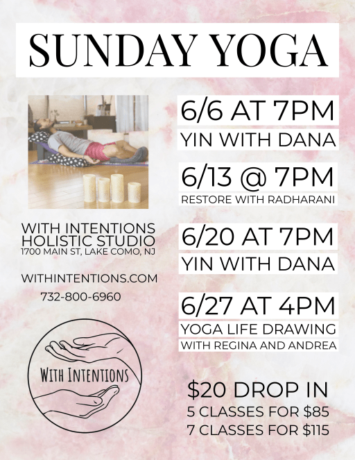 New Sunday Yoga classes at the Jersey Shore!