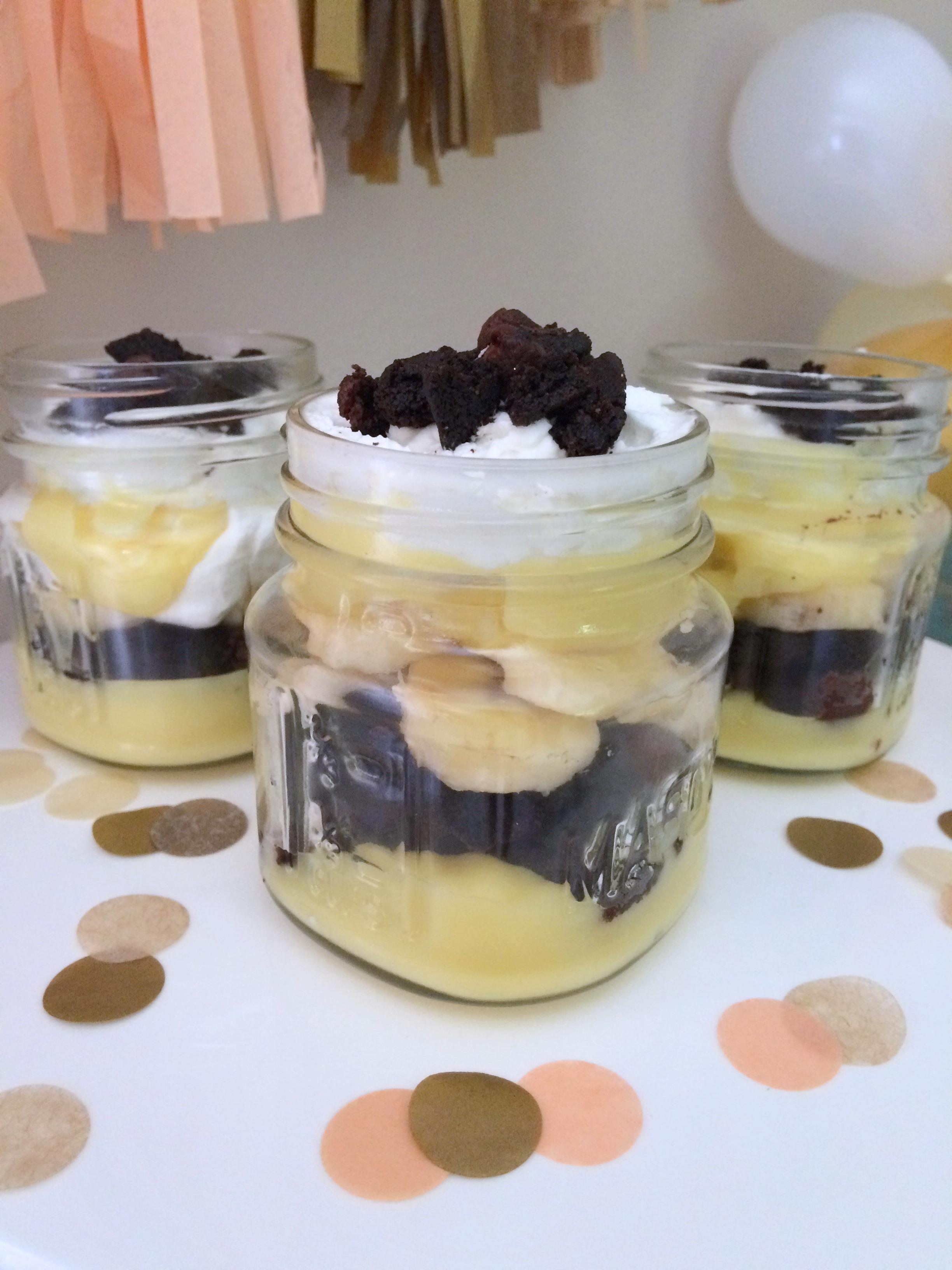 Banana Pudding in a mason jar