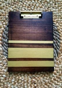 stripe pattern on a clip board