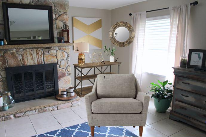 Styled Living Room Corner