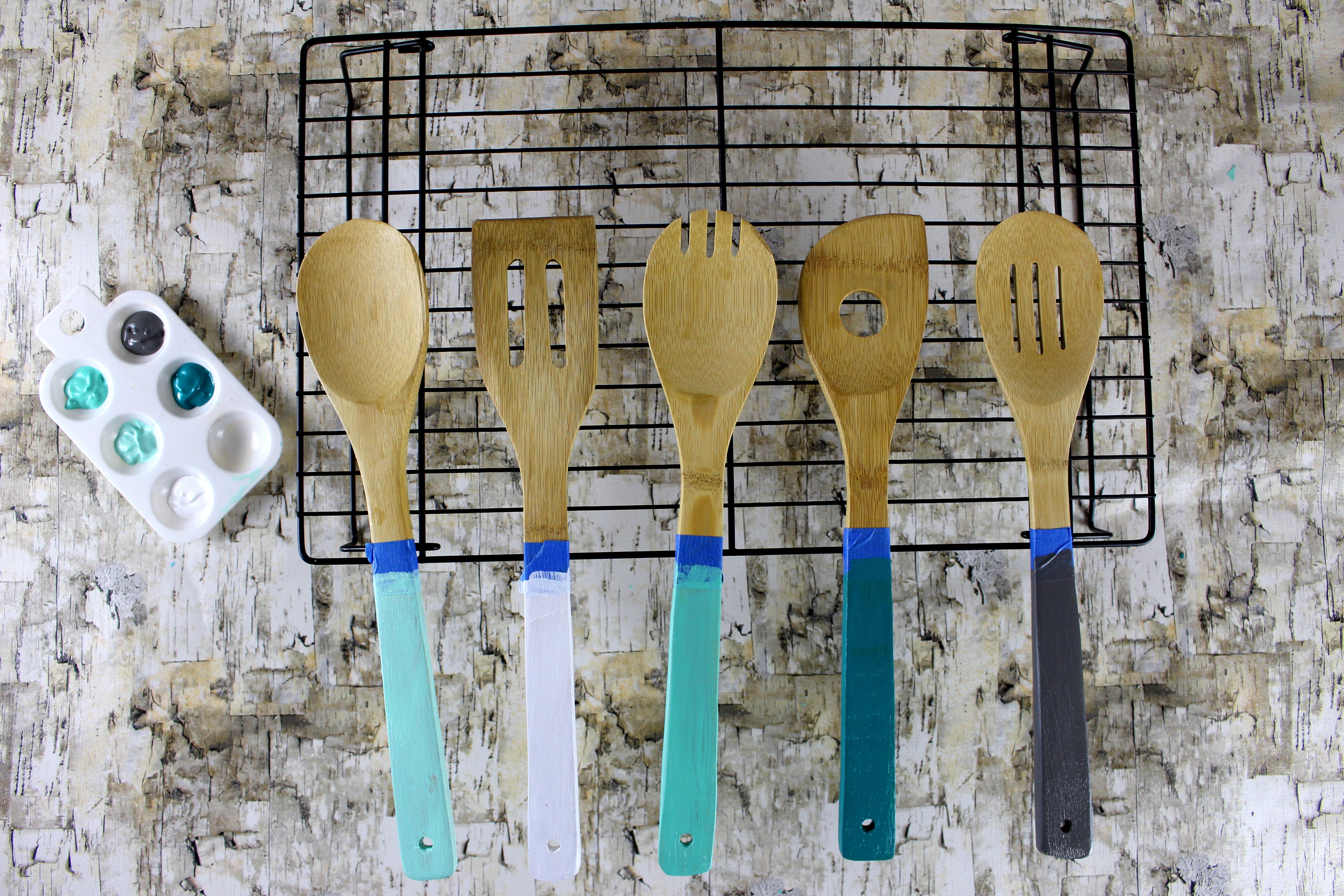 DIY Kitchen Utensils using Paint