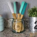 DIY Painted Kitchen Utensils for splash of color