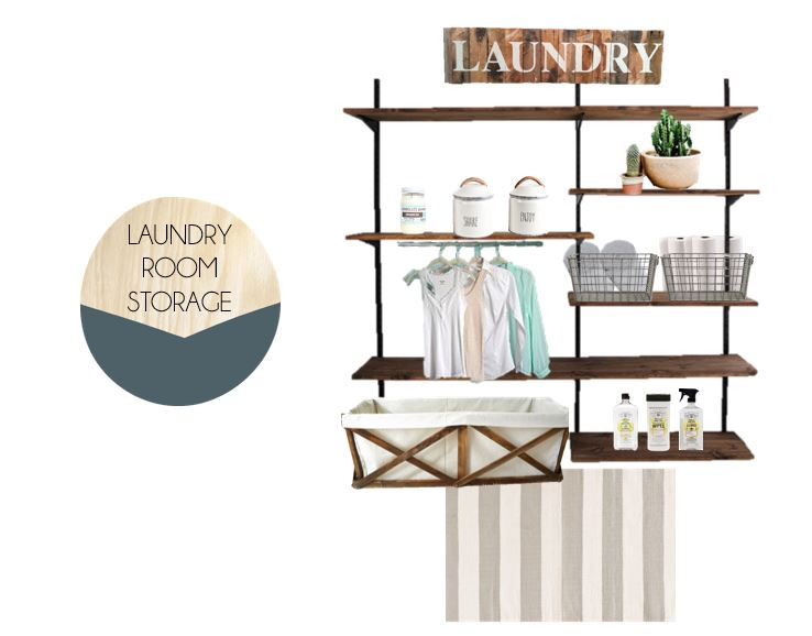 Laundry room storage idea for your home.