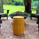 Making over patio tables for a pop of color.