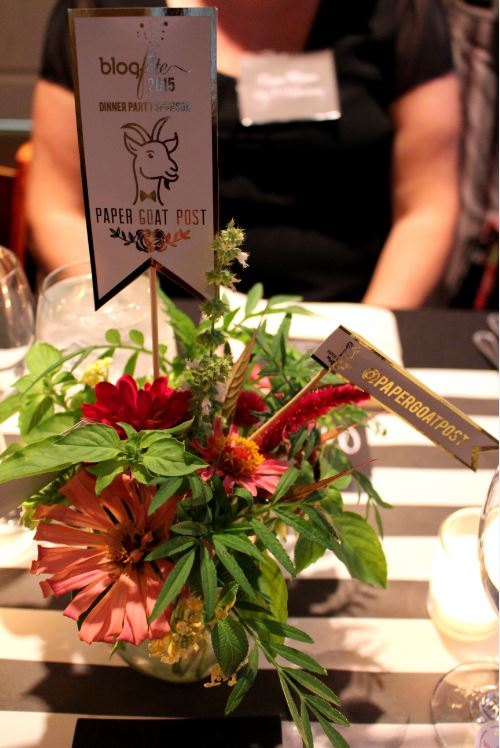 Paper Goat Post hosted the Blog Fete 2015 Dinner Party
