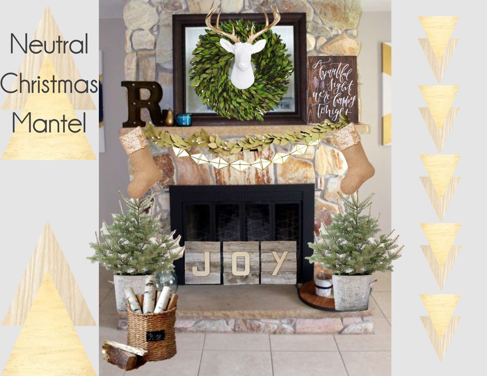 Neutral Christmas decor