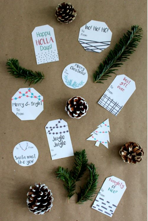 Modern Holiday Labels for gifts.