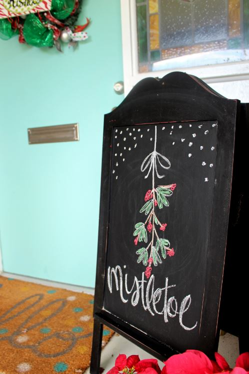 Mistletoe Chalkboard Sign