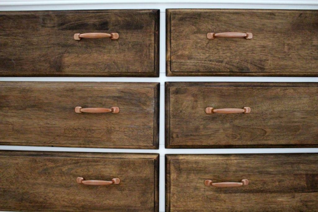Staining drawers a darker color