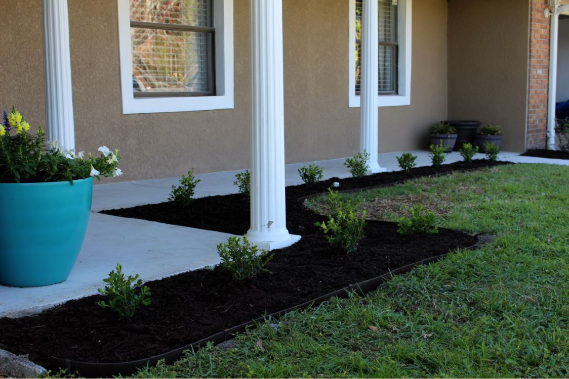 Flowerbed For The Front Porch Area