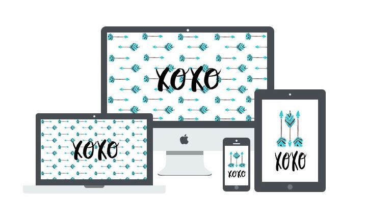 XOXO Wallpaper for Devices