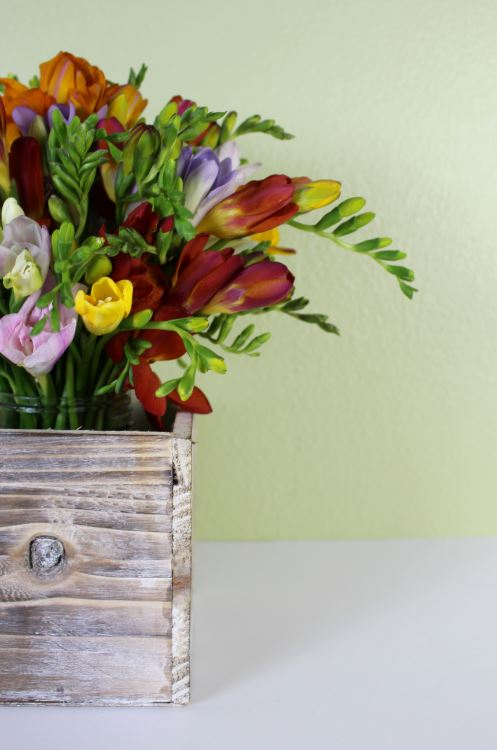 Fresh flower arrangement for your home