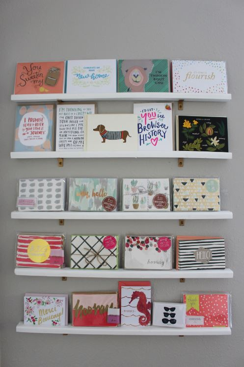 Greeting Card Display Wall for your office