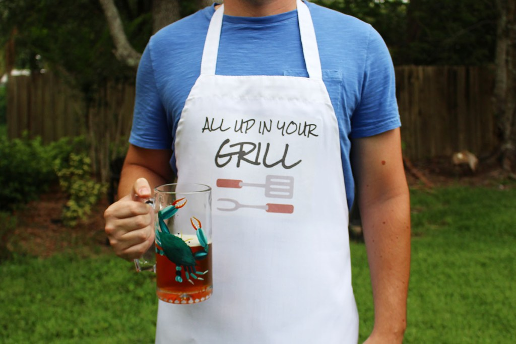 All up in your grill apron for Father's Day