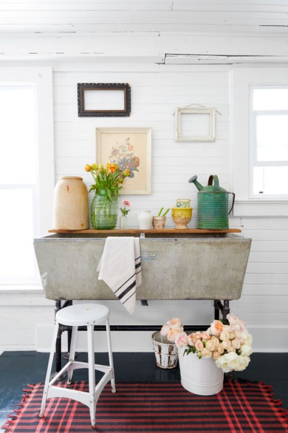 Country Living Concrete Sink - Farmhouse Laundry Room Sinks