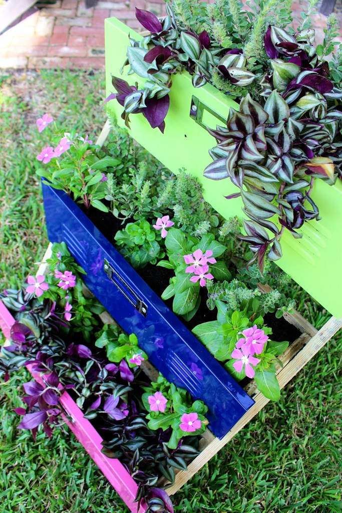 Locker Planters you can make yourself