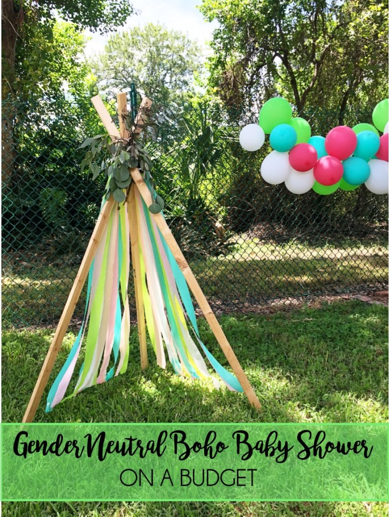 Gender Neutral Boho Baby Shower on a Budget