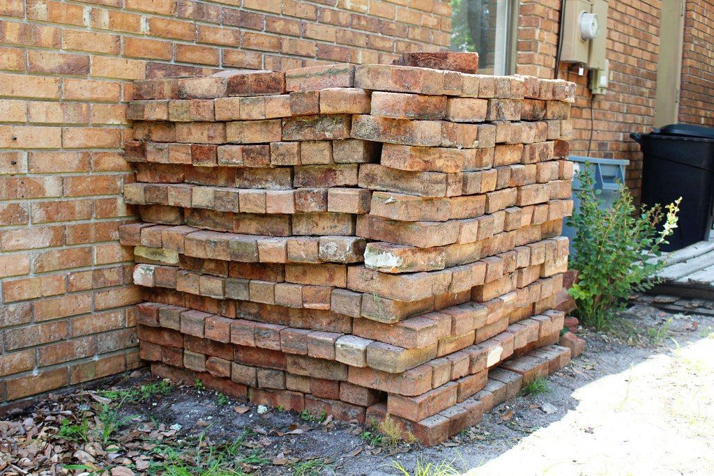 Recycling brick from an old patio