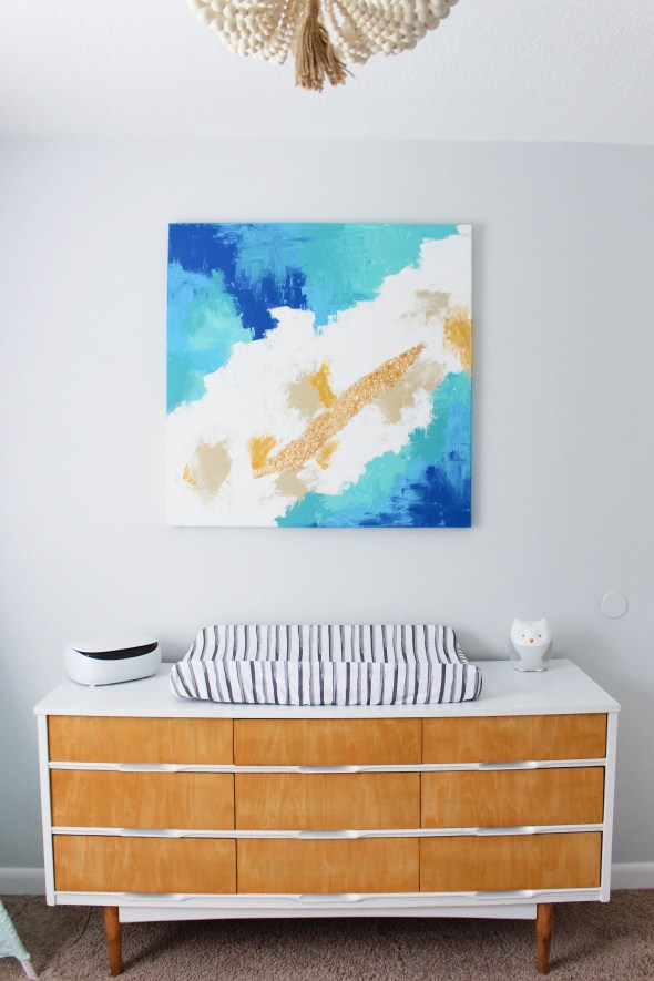 Creating an abstract painting for a nursery