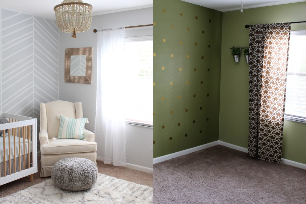 Before and after of a nursery