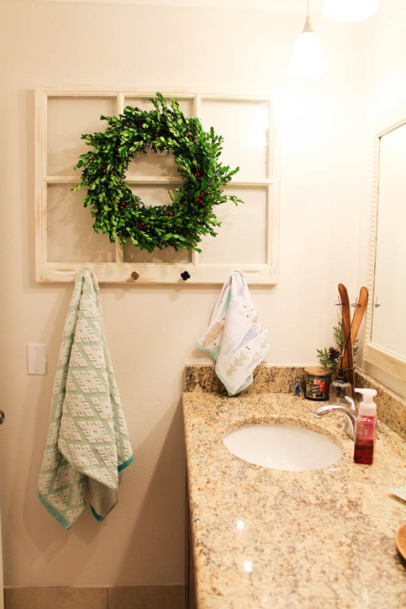 DIY Window Towel Rack  - Within the Grove