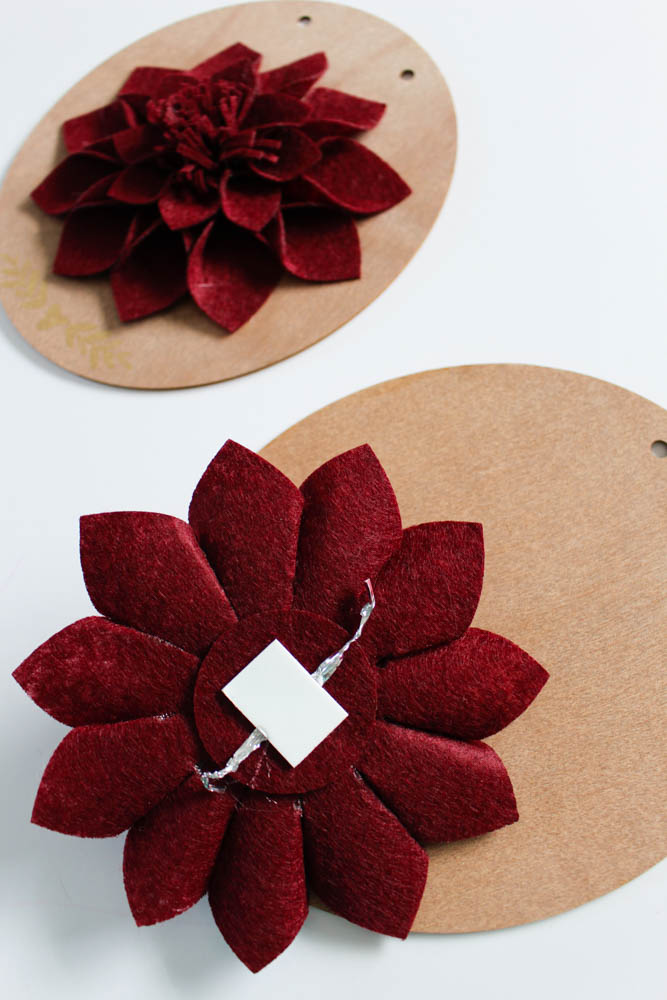 Attach felt flowers to a fall sign - Within the Grove