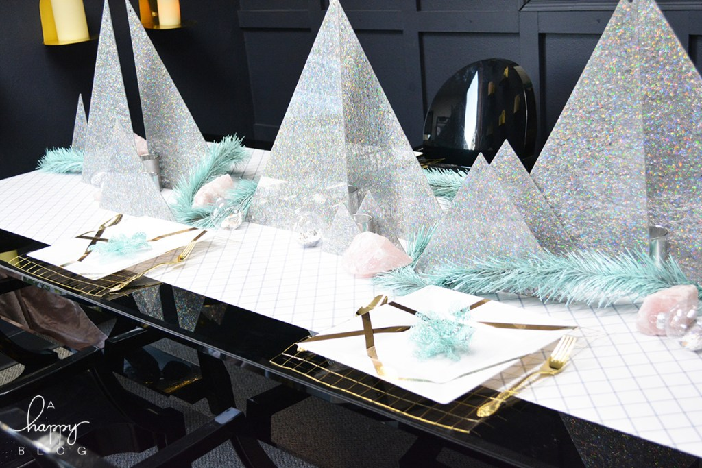 Geometric holiday table decor - Within the Grove