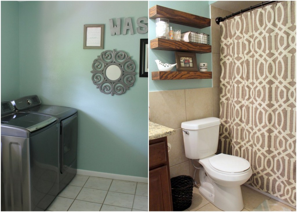 laundry room and guest bathroom  - Within the Grove