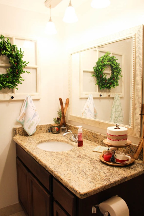 mini bathroom makeover for the holidays  - Within the Grove