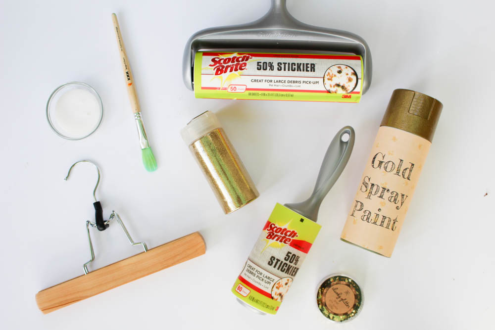 Supplies to create glitter picture hangers - Within the Grove