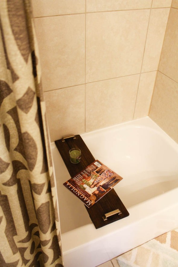Wooden bathtub tray for guests  - Within the Grove
