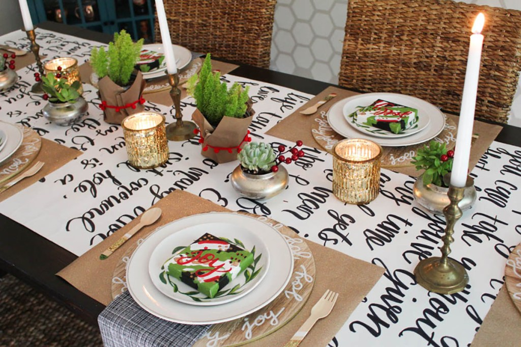 Holiday Table Blog Hop 2016 - Creating Centerpieces with Within the Grove