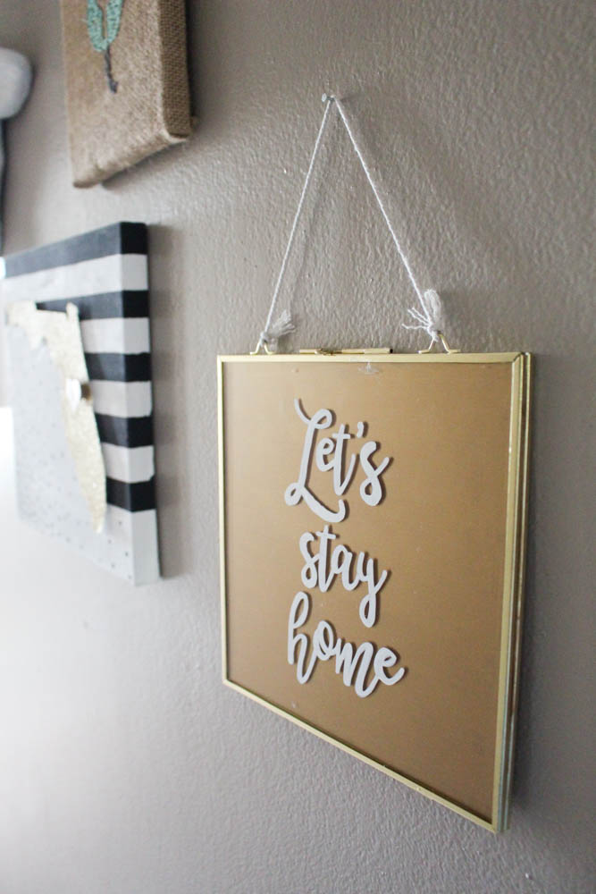 One Spot DIY // Calligraphy Quote on a Glass Frame - Within the Grove