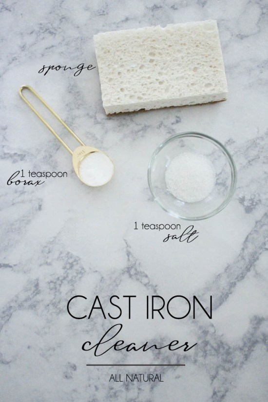 Cast Iron Cleaner using Borax - Within the Grove