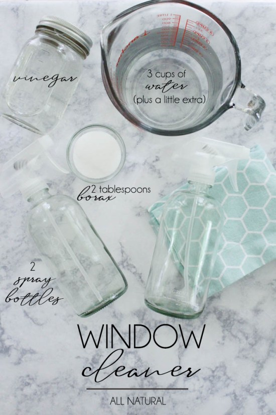 Cleaning windows with Borax - Within the Grove