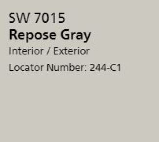 Sherwin Williams's Repose Gray for a front door