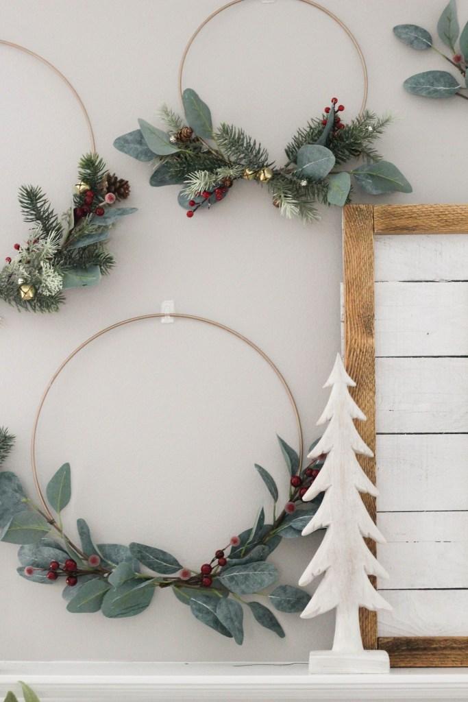 DIY Metal Hoop Wreaths