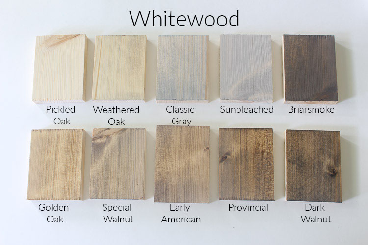 Stains On Whitewood Within The Grove