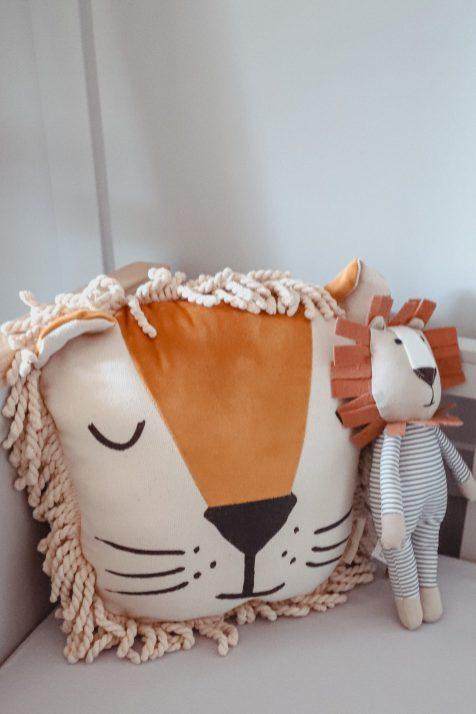 Scandi Lion cushion