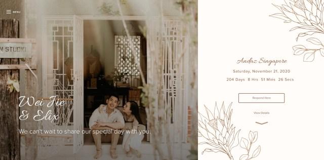 24 Creative Wedding Website Examples - Joy