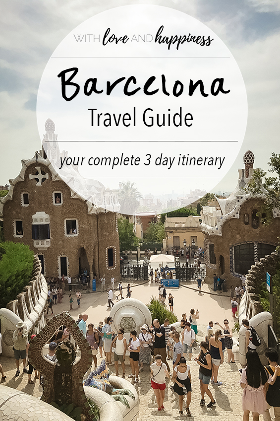 barcelona travel guide 3 day itinerary