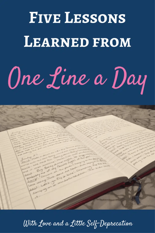 The lessons we can learn from a one line a day journal. #journaling #onelineaday #journalwriting