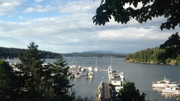 The view from Friday Harbor, San Juan Islands